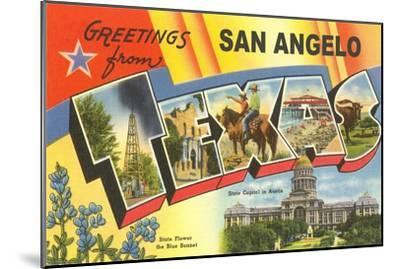 Greetings from San Angelo, Texas--Mounted Art Print