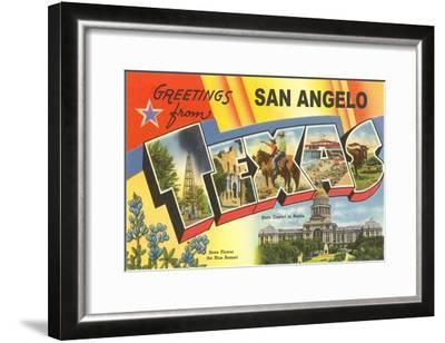 Greetings from San Angelo, Texas--Framed Art Print