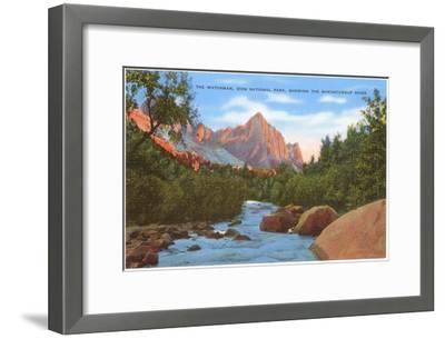 Watchman, Zion Park, Makuntuweap River, Utah--Framed Art Print