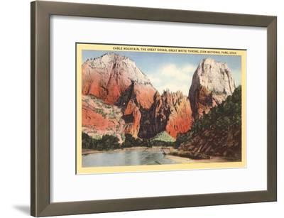 Mountains in Zion National Park, Utah--Framed Art Print