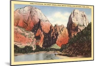 Mountains in Zion National Park, Utah--Mounted Art Print