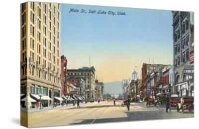 Main Street, Salt Lake City, Utah--Stretched Canvas Print