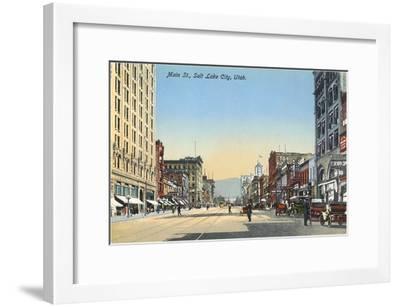 Main Street, Salt Lake City, Utah--Framed Art Print
