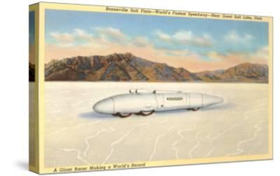 Racer, Bonneville Salt Flats, Utah--Stretched Canvas Print