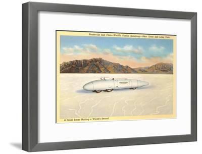 Racer, Bonneville Salt Flats, Utah--Framed Art Print