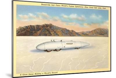 Racer, Bonneville Salt Flats, Utah--Mounted Art Print