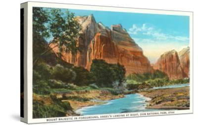 Mt. Majestic, Zion National Park, Utah--Stretched Canvas Print