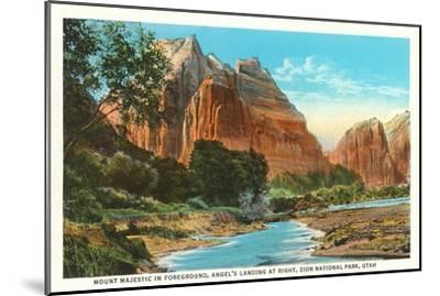 Mt. Majestic, Zion National Park, Utah--Mounted Art Print