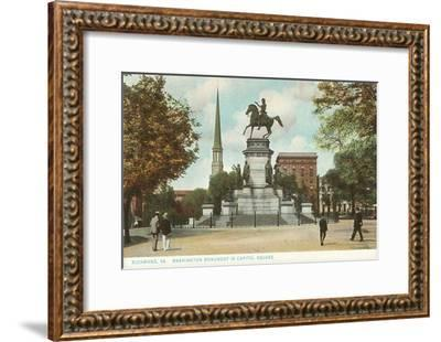 Washington Monument, Richmond, Virginia--Framed Art Print