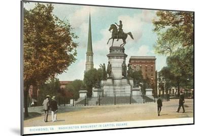Washington Monument, Richmond, Virginia--Mounted Art Print