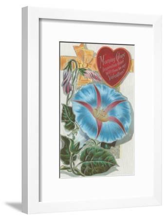 Vintage Morning Glory Valentine--Framed Premium Giclee Print