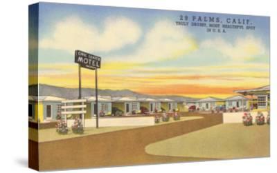 29 Palms Civic Center Vintage Motel--Stretched Canvas Print