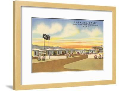 29 Palms Civic Center Vintage Motel--Framed Art Print