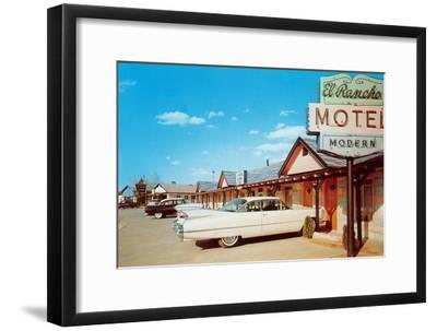 El Rancho Vintage Motel, Cadillac with Fins--Framed Art Print