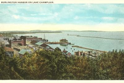 Burlington Harbor on Lake Champlain, Vermont--Stretched Canvas Print