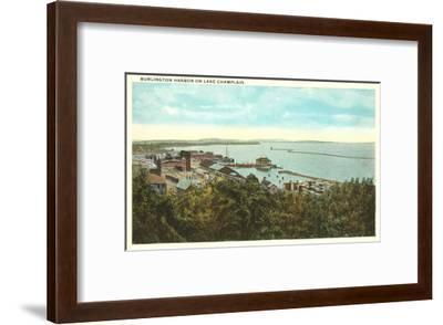 Burlington Harbor on Lake Champlain, Vermont--Framed Art Print