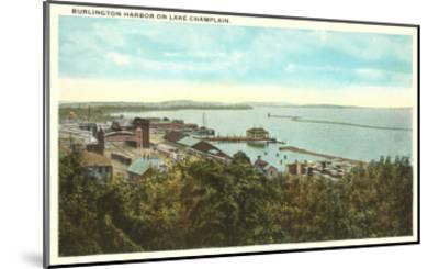 Burlington Harbor on Lake Champlain, Vermont--Mounted Art Print