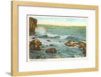 Rocky Point, St. Albans, Vermont--Framed Art Print