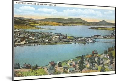 Newport and Lake Memphremagog, Vermont--Mounted Art Print