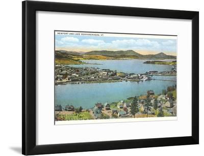 Newport and Lake Memphremagog, Vermont--Framed Art Print