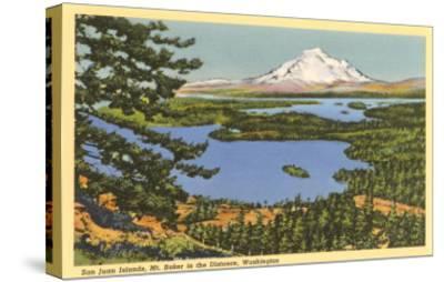 San Juan Islands, Mt. Baker, Washington--Stretched Canvas Print