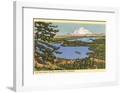 San Juan Islands, Mt. Baker, Washington--Framed Art Print