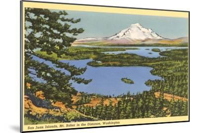 San Juan Islands, Mt. Baker, Washington--Mounted Art Print