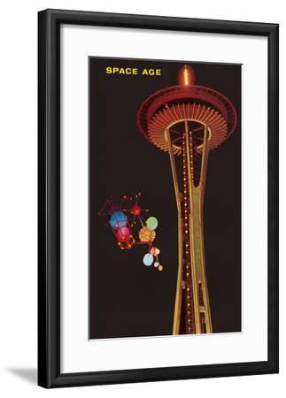Space Needle, Seattle, Washington--Framed Art Print