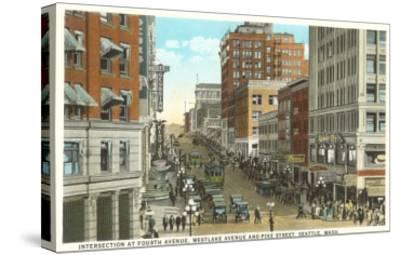 Downtown, Seattle, Washington--Stretched Canvas Print