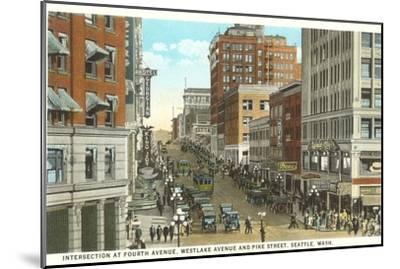 Downtown, Seattle, Washington--Mounted Art Print
