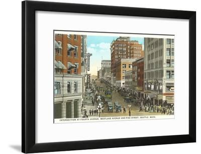 Downtown, Seattle, Washington--Framed Art Print