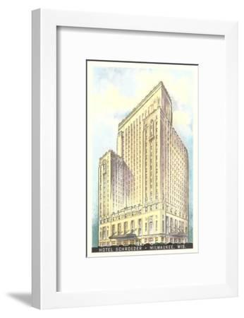 Hotel Schroeder, Milwaukee, Wisconsin--Framed Art Print