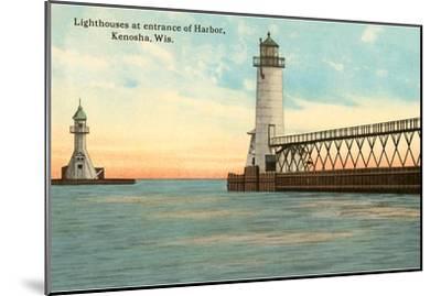 Lighthouses, Kenosha, Wisconsin--Mounted Art Print