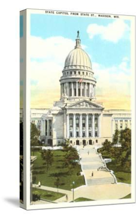 State Capitol, Madison, Wisconsin--Stretched Canvas Print