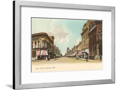Main Street, Oshkosh, Wisconsin--Framed Art Print