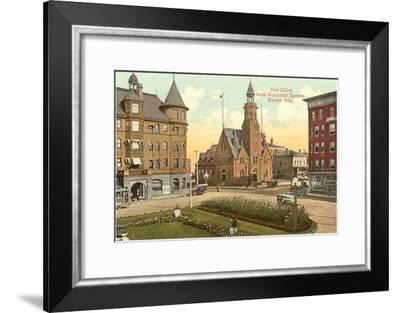 Post Office, Monument Square, Racine, Wisconsin--Framed Art Print