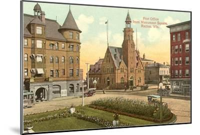 Post Office, Monument Square, Racine, Wisconsin--Mounted Art Print
