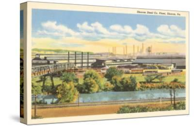 Sharon Steel Plant, Sharon, Pennsylvania--Stretched Canvas Print