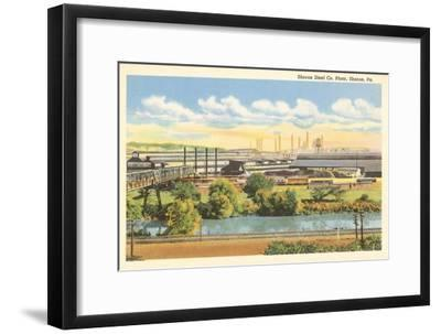 Sharon Steel Plant, Sharon, Pennsylvania--Framed Art Print