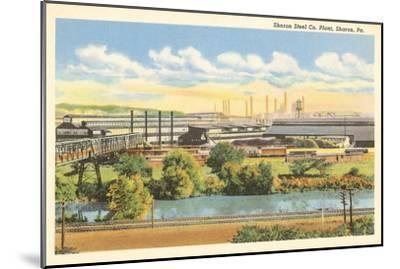 Sharon Steel Plant, Sharon, Pennsylvania--Mounted Art Print