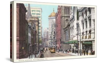 Sixth Avenue, Pittsburgh, Pennsylvania--Stretched Canvas Print