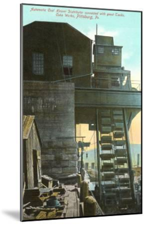 Iron Works, Pittsburgh, Pennsylvania--Mounted Art Print