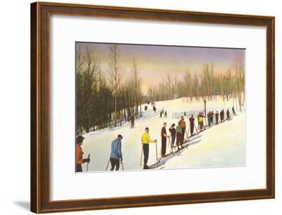 Line of Cross Country Skiers--Framed Art Print