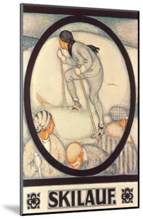 German Skiing Poster--Mounted Art Print