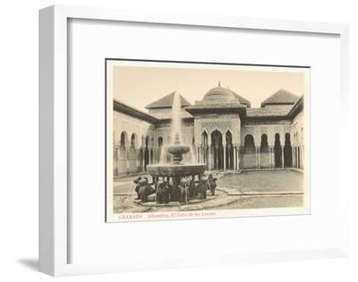 Patio of the Lions, Alhambra, Granada, Spain--Framed Art Print