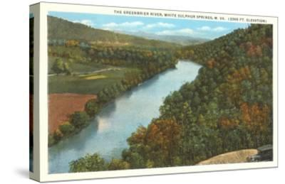 Greenbrier River, White Sulphur Springs, West Virginia--Stretched Canvas Print