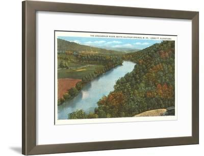 Greenbrier River, White Sulphur Springs, West Virginia--Framed Art Print