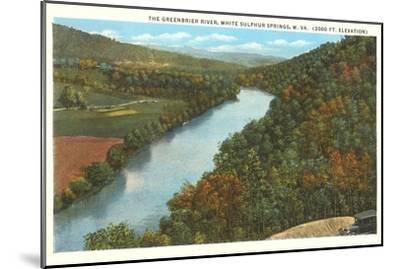 Greenbrier River, White Sulphur Springs, West Virginia--Mounted Art Print