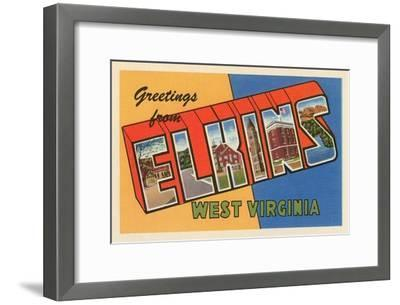 Greetings from Elkins, West Virginia--Framed Art Print