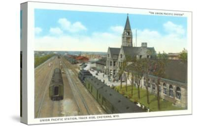 Train Station, Cheyenne, Wyoming--Stretched Canvas Print